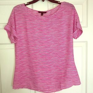 Banana Republic XS pink & white striped shirt